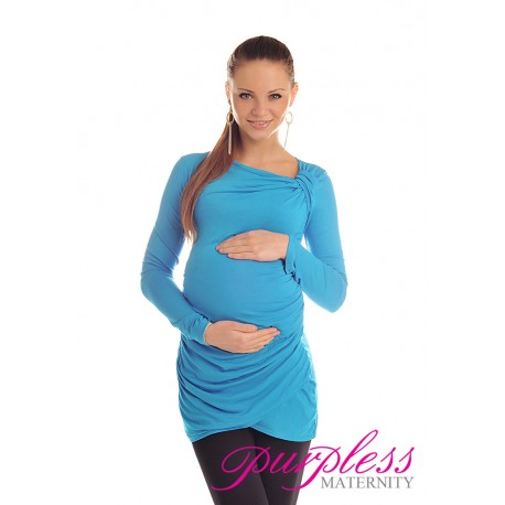 Asymmetric Neck Tunic 6053 Sky Blue