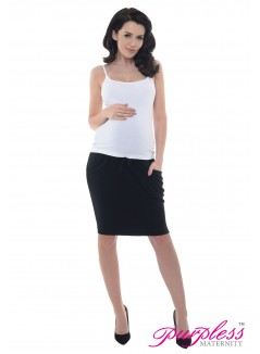 Elasticated Belly Band Skirt 1500 Black
