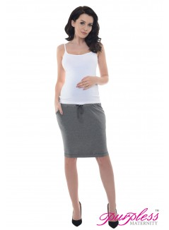 Elasticated Belly Band Skirt 1500 Dark Gray Melange