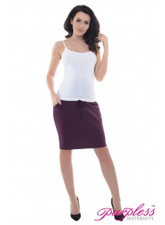 Elasticated Belly Band Skirt 1500 Plum