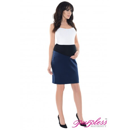 Formal Pencil Skirt 1504 Navy