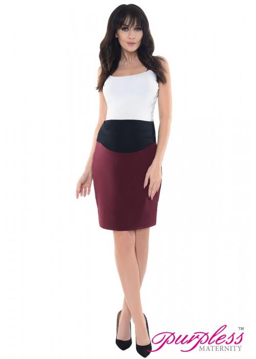 Formal Pencil Skirt 1504 Burgundy