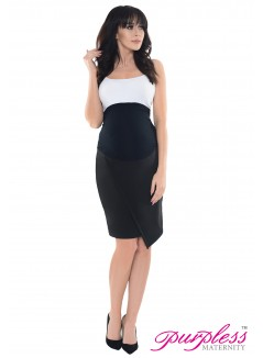 Formal Asymmetric Skirt 1508 Black