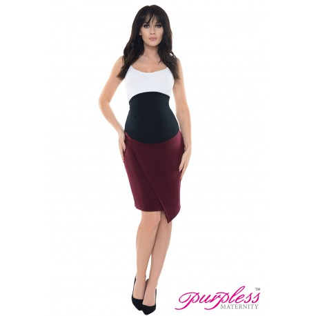 Formal Asymmetric Skirt 1508 Burgundy
