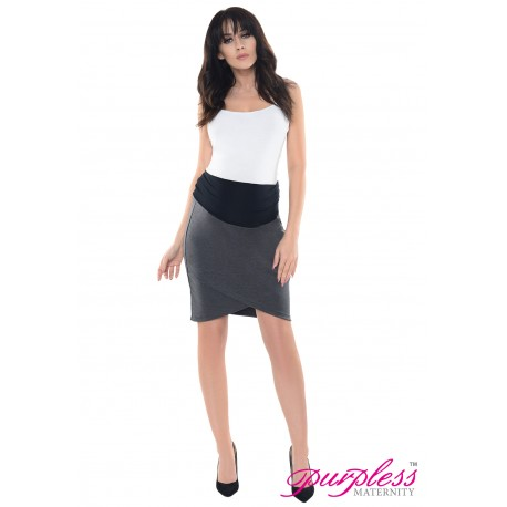 Formal Tulip Skirt 1512 Dark Gray