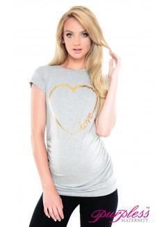 Love Heart Top 2011 Light Gray Melange