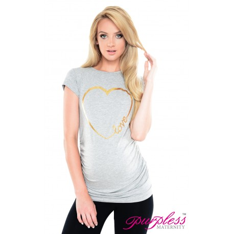 Love Heart Top 2011 Light Gray Melange