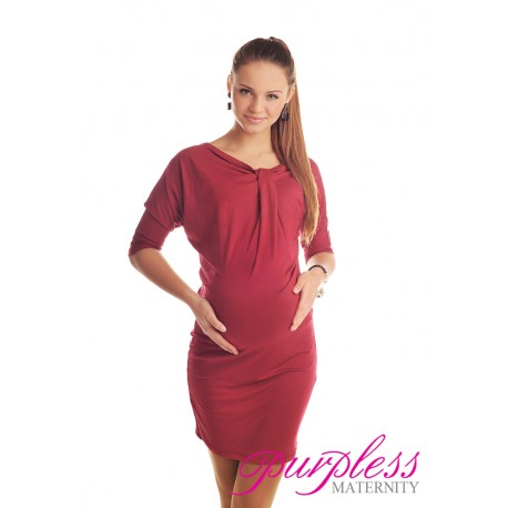 Batwing Dress 6407 Burgundy