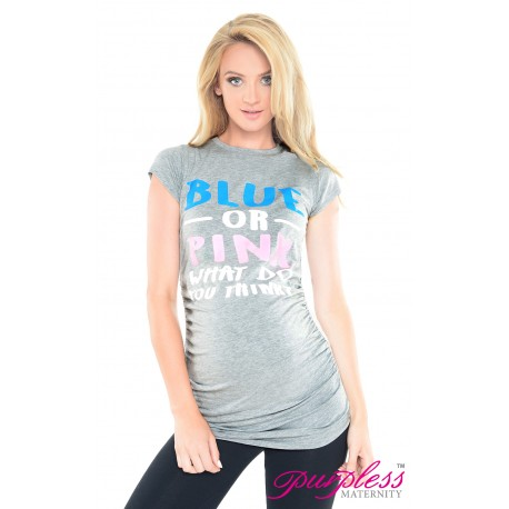 Blue or Pink Top 2014 Light Gray Melange