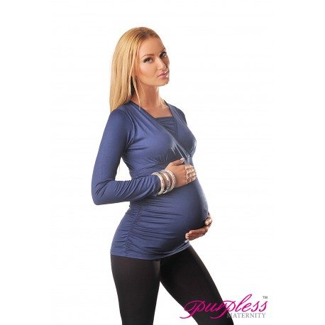 2 in 1 Maternity and Nursing Top 7007 Jeans