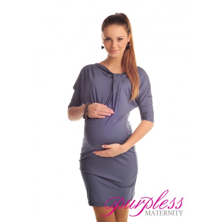 Batwing Dress 6407 Graphite