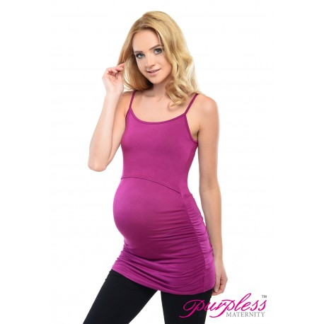 Nursing Cami Vest Top D8021 Dark Pink
