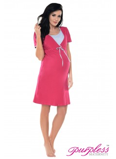 Pregnancy and Nursing Nightdress 4044n Dark Pink