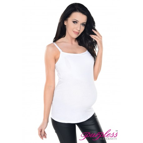 Discreet 2in1 Cami Vest Top 8028 White