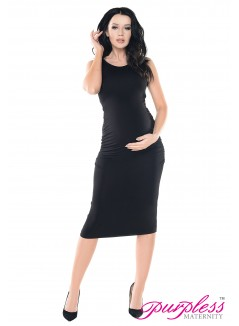 Sleeveless Jersey Midi Dress D8130 Black
