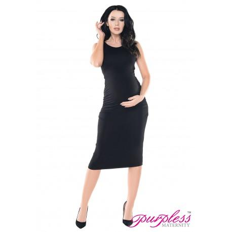 Sleeveless Jersey Midi Dress D8130 Black