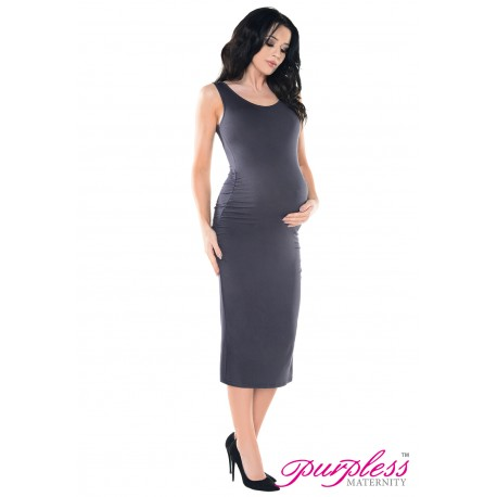 Sleeveless Jersey Midi Dress D8130 Graphite