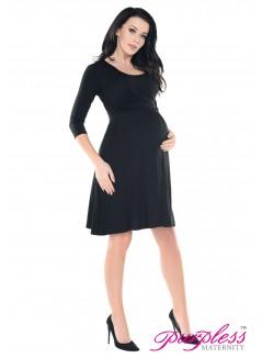 2in1 Pregnancy and Nursing Skater Dress 7240 Black