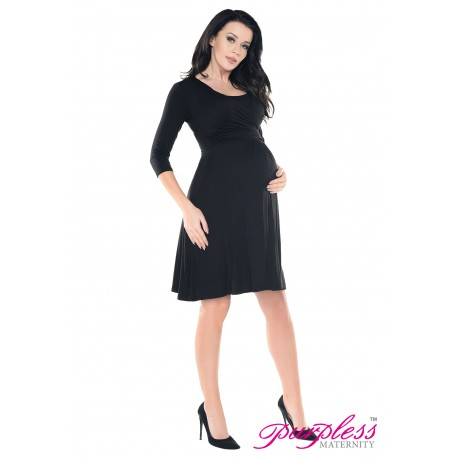 2in1 Pregnancy and Nursing Skater Dress 7240 Black