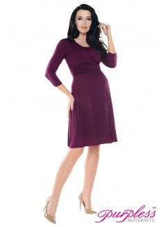 2in1 Pregnancy and Nursing Skater Dress 7240 Plum
