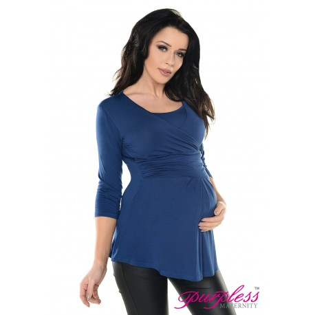 9cc8ea9a663 2in1 Pregnancy and Nursing Wrap Front Style Top 7049 Jeans