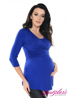 2in1 Pregnancy and Nursing Wrap Front Style Top 7049 Royal Blue