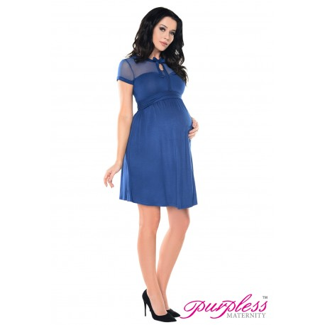 Keyhole Bow Tie Pregnancy Dress D016 Jeans