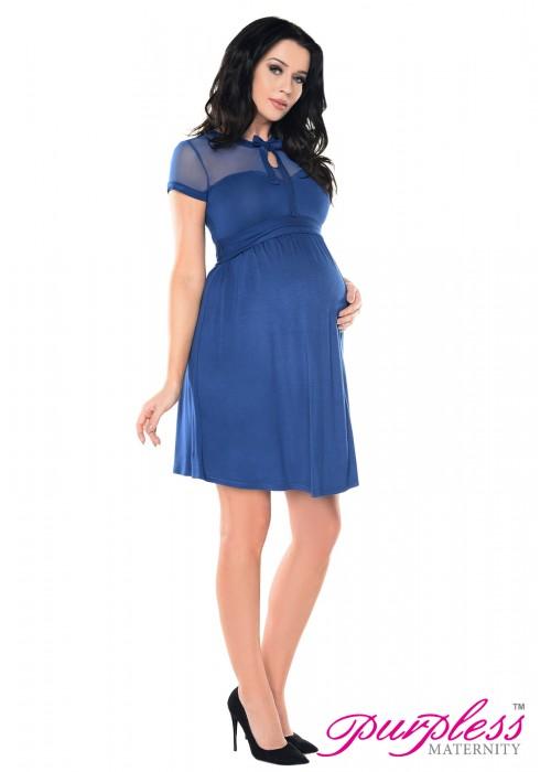 Keyhole Bow Tie Pregnancy Dress D016 Jeans