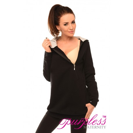 Pregnancy and Nursing Hoodie B9052 Black