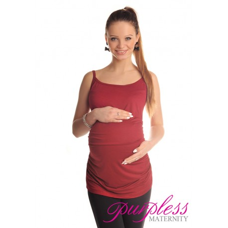 Spaghetti Strap Top Camisole Vest 8010 Dark Pink