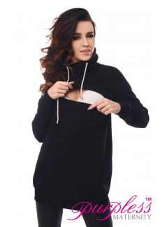 2in1 Cowl Neck Sweatshirt B9054 Black