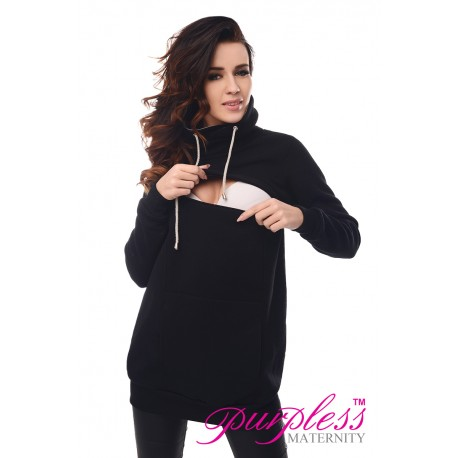 2in1 Cowl Neck Sweatshirt 9054 Black