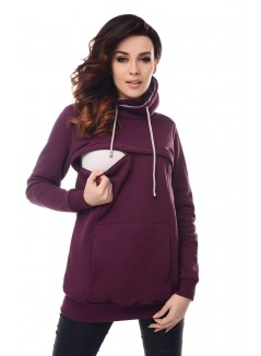 2in1 Cowl Neck Sweatshirt B9054 Plum