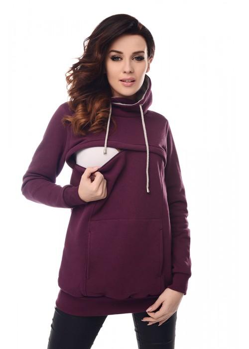2in1 Cowl Neck Sweatshirt B9054 Plum