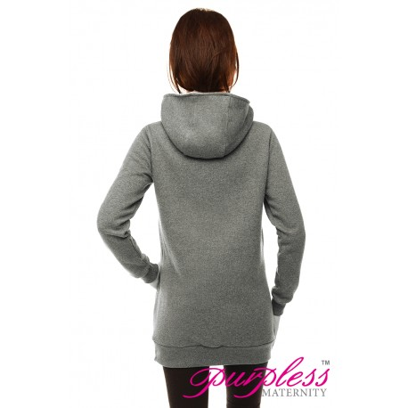 Pregnancy and Nursing Hoodie B9052 Gray Melange