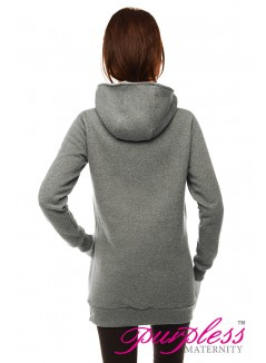 2in1 Cowl Neck Sweatshirt B9054 Gray Melange