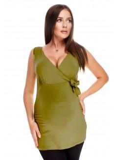 V Neck Top 5104 Olive Green