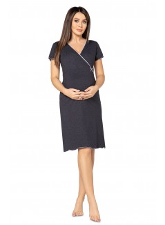 Pregnancy and Nursing Nightdress 1055n Graphite Melange