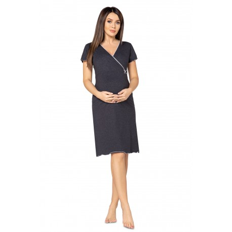 Pregnancy and Nursing Nightdress 1055n Graphite Melange