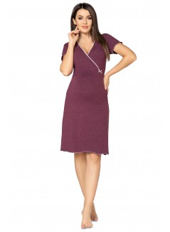 Pregnancy and Nursing Nightdress 1055n Plum Melange