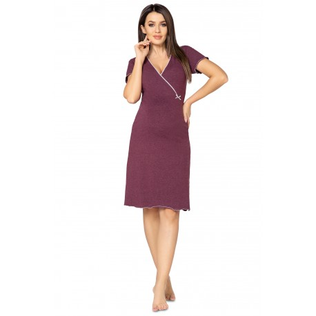 Pregnancy and Nursing Nightdress 1055n Plum Melange