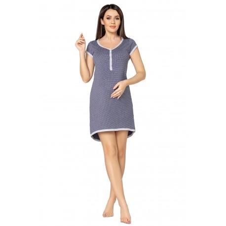 Pregnancy and Nursing Nightdress 5038n Indigo Jeans Melange
