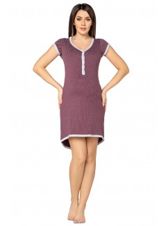 Pregnancy and Nursing Nightdress 5038n Plum Melange