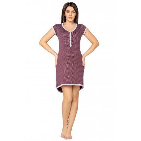 Pregnancy and Nursing Nightdress 5038n Plum Melange