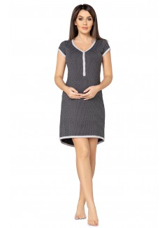Pregnancy and Nursing Nightdress 5038n Graphite Melange