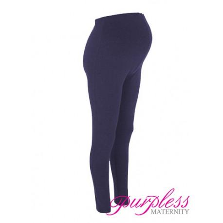 Stretchy Maternity Leggings Over Bump Full Length 1050 Black