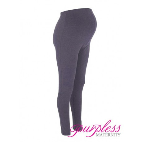 Stretchy Maternity Leggings Over Bump Full Length 1050 Navy