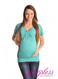 Twist Knot Front Top 6065 Turquoise