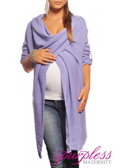 Maternity Cardigan 9001 Light Violet