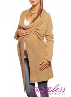 Maternity Cardigan 9001 Camel